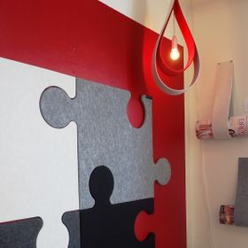 Walldesign in felt